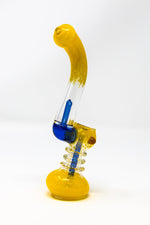"Dark Goldenrod 7"" Premium Yellow Glass Bubbler w/ Percolator StonedGenie.com Bubblers"