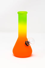 "6"" Frosted Rasta Glass Beaker Base Bong Smoking Pipe"