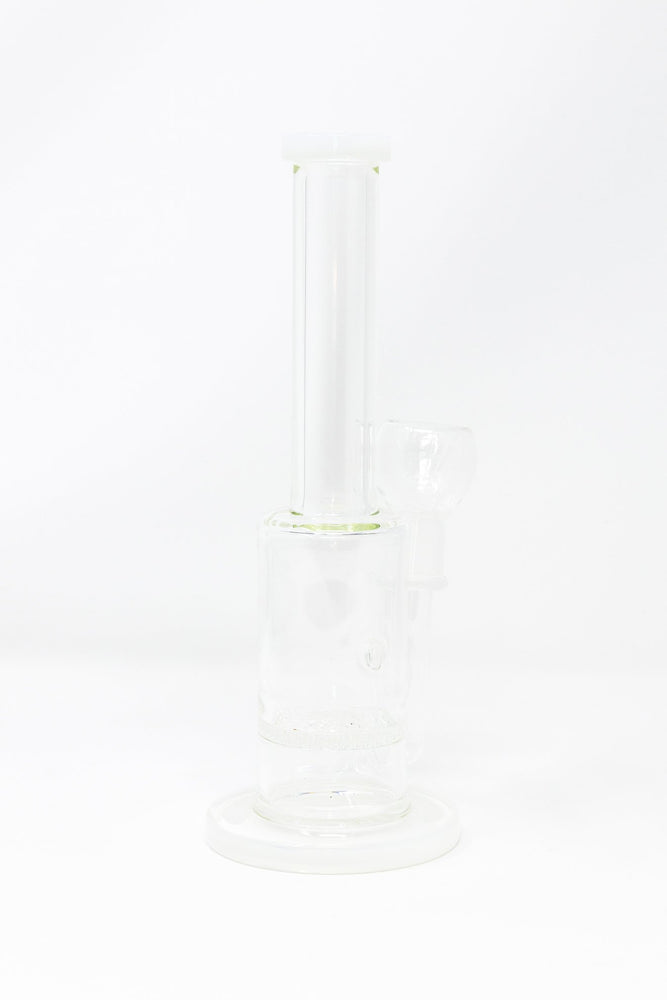 "Ghost White 10"" Water Pipe Bong w/ Honeycomb Percolator Smoking Pipe StonedGenie.com Bong"