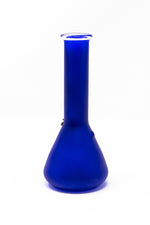 "6"" Frosted Blue Glass Beaker Base Bong Smoking Pipe"