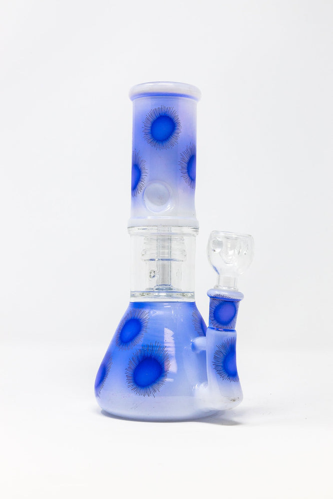 "7.5"" Glass Bong w/ Perc and Ice Catcher Assorted Colors"