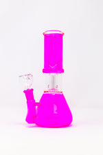 "8"" Pink Side Joint Beaker w/ Perk & Ice Catcher"