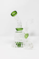"6"" Twisted Glass Shower Bend Dab Rig"