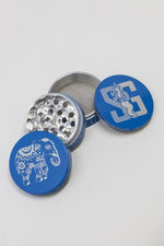 4 pc Blue Magnetic Elephant Metal Grinder w/ Sharp Teeth