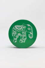 Dark Slate Gray 4 pc Green Magnetic Elephant Metal Grinder w/ Sharp Teeth