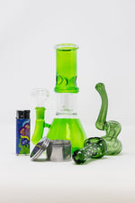 "8"" StonedGenie Green Sidejoint Combo Set"