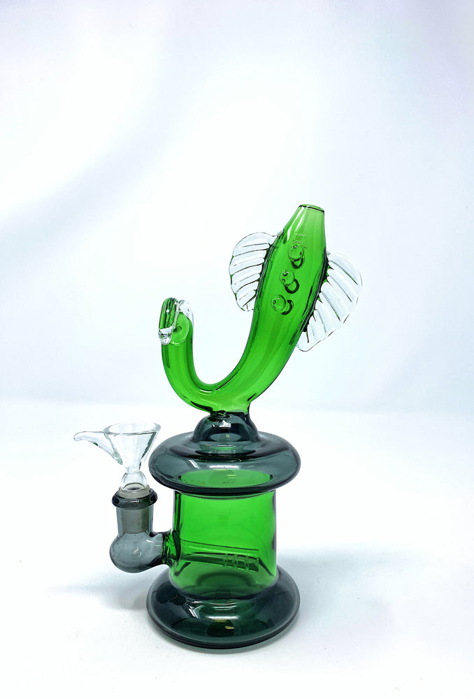 "Lime Green 7"" Designer Fish Water Pipe Bong StonedGenie.com Bong"