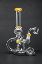"6"" Yellow Tip Recycler Dab Rig"