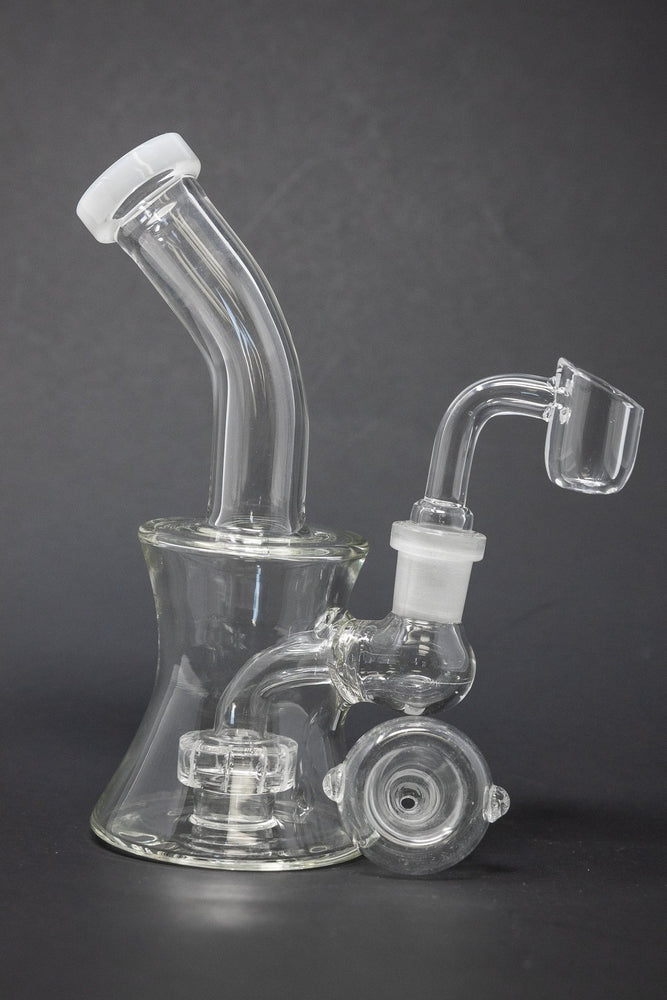 "6"" Colored Tip Shower Bend Dab Rig"