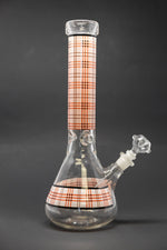 "14"" Red Plaid Beaker Thick 7mm Bong"
