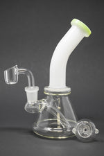 "7"" White Neck Shower Bend Dab Rig"