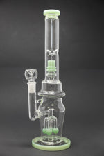 "Snow 16"" Thick Double Percolator Bong w/ Ice Catcher StonedGenie.com Bong"