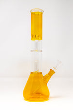 "12"" Double Percolator Neon Yellow Bong"