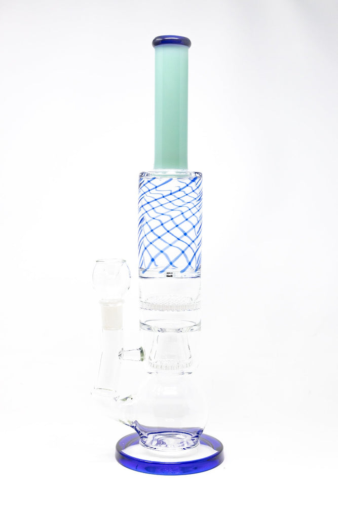 "Dark Sea Green 16"" Thick Bubble Bottom Honeycomb Bong StonedGenie.com Bong"