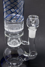 "Black 16"" Thick Bubble Bottom Honeycomb Bong StonedGenie.com Bong"