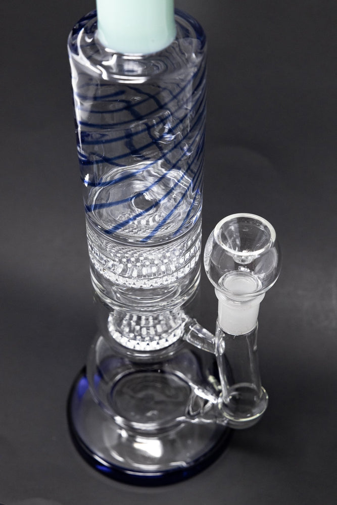 "White Smoke 16"" Thick Bubble Bottom Honeycomb Bong StonedGenie.com Bong"