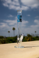 "Slate Gray 16"" Stoned Genie Classic Thick Glass Straight Shooter w/ Ice Catcher StonedGenie.com Bong"