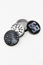Black 4 pc Black Giraffe Magnetic Metal Grinder w/ Sharp Teeth StonedGenie.com Grinders