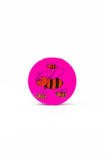 Deep Pink 4 pc Magnetic Pink Bumble Bee Metal Grinder w/ Sharp Teeth StonedGenie.com Grinders