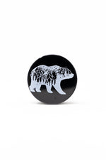 Black 4 pc Black Cali Bear Magnetic Metal Grinder w/ Sharp Teeth StonedGenie.com Grinders