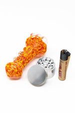 "Dark Orange Stoned Genie 5"" Designer Hand Pipe Combo Set StonedGenie.com Combo"