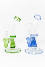 "Royal Blue 8"" Long Conical Percolator Shower Bend Dab Rig StonedGenie.com Dab rig"