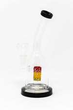 "6.5"" Rasta Perk Shower Bend Dab Rig"