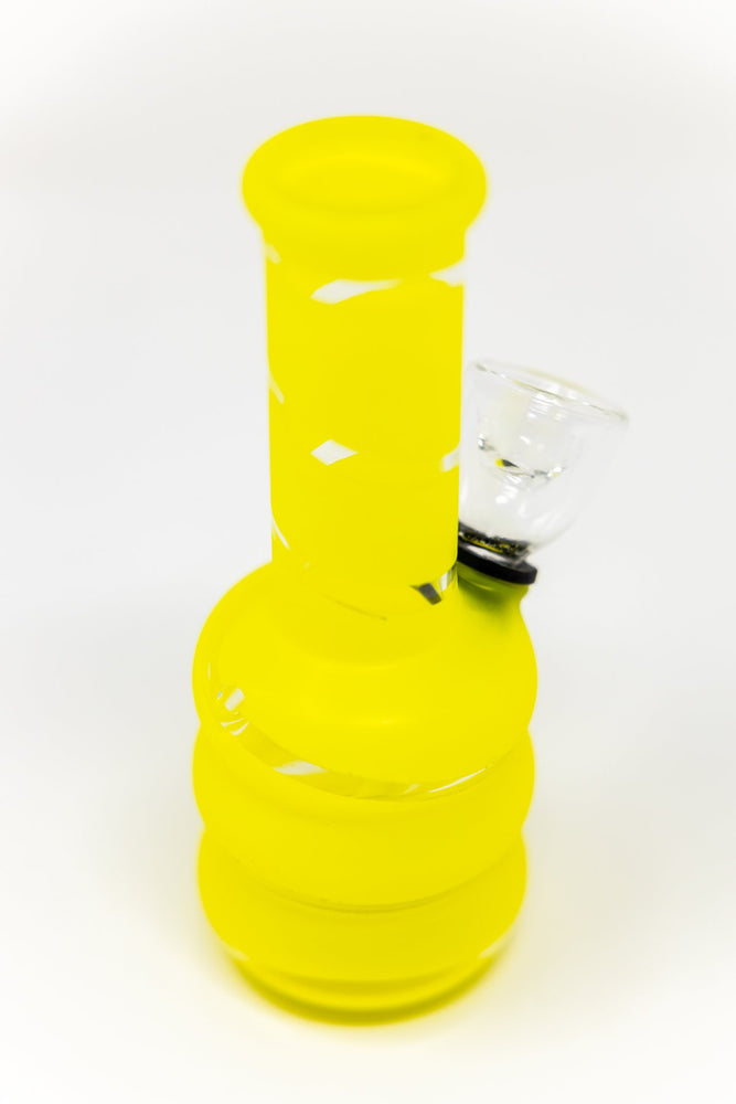"Gold 5"" Yellow Mini Bong w/ Carb Hole"