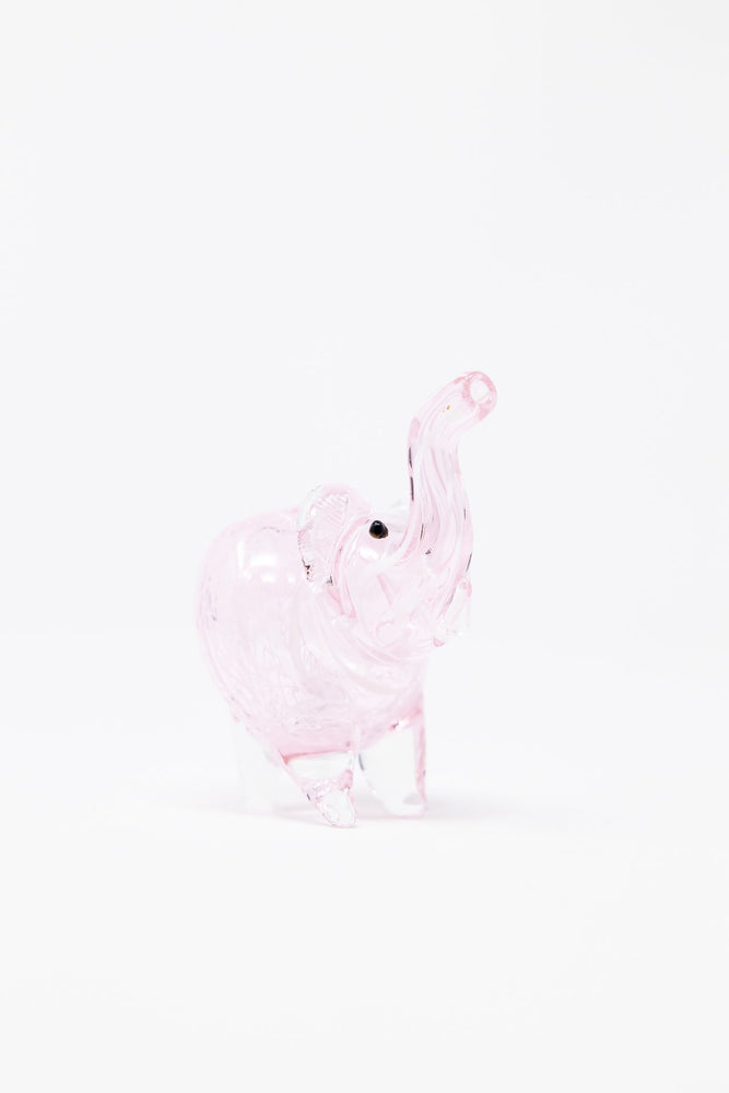 "3"" Pink Elephant Swirl Glass Hand Smoking Pipe"