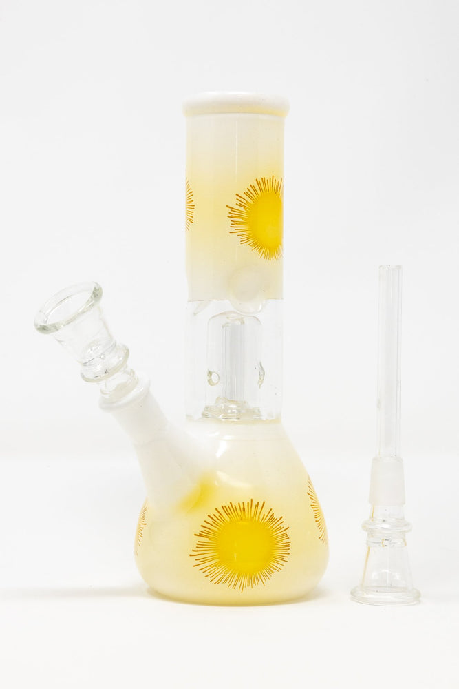 "8"" White & Yellow Jelly Fish Bong"