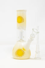 "Bisque 8"" White & Yellow Jelly Fish Bong StonedGenie.com Bong"