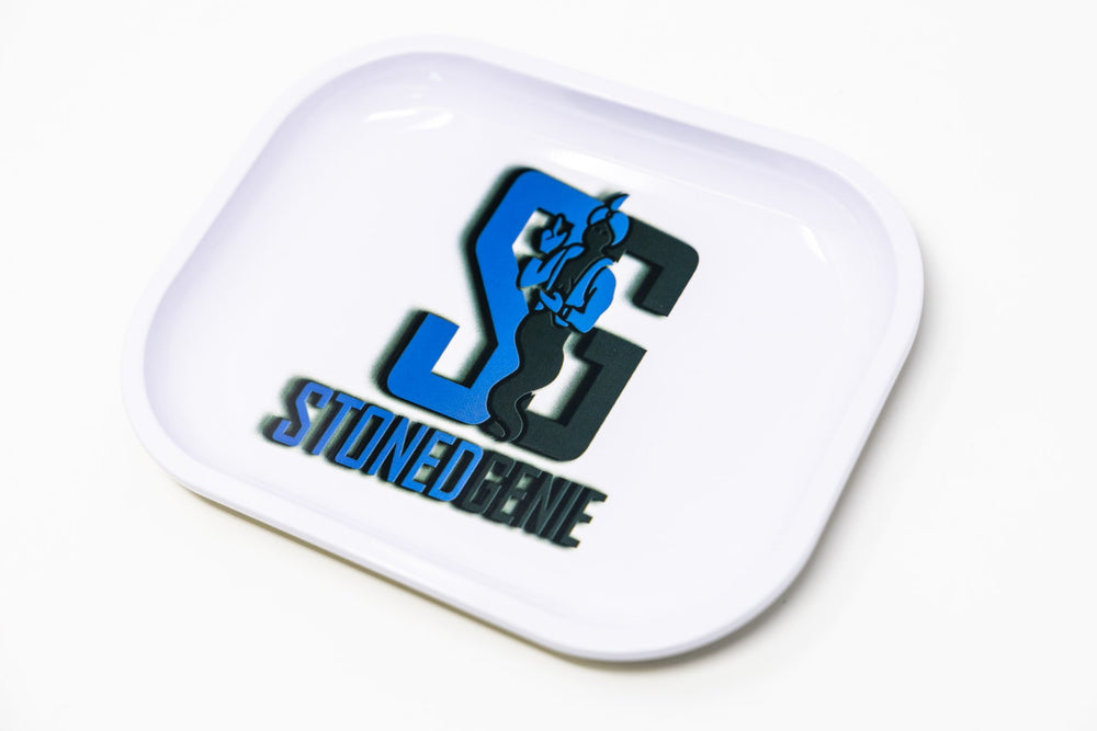 Dodger Blue Stoned Genie Rolling Tray Accessories