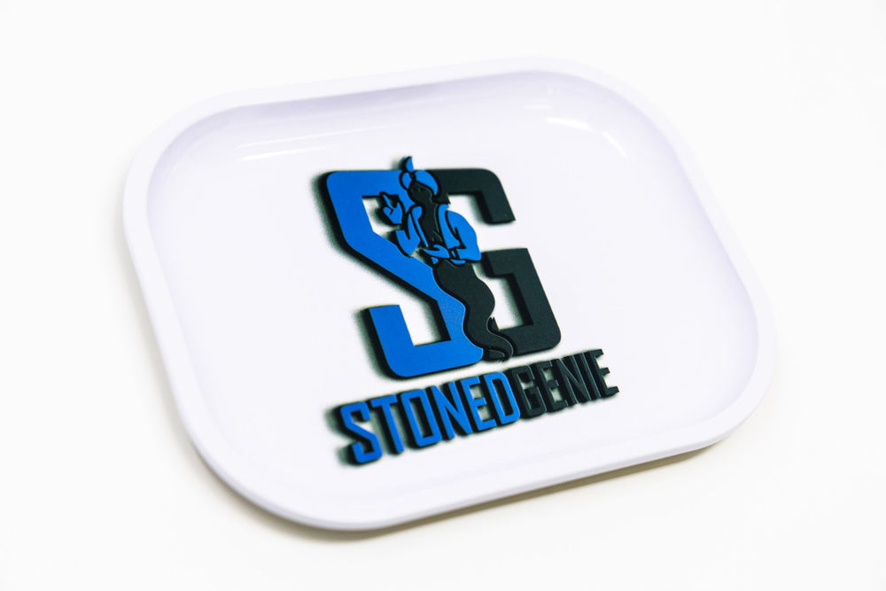 Dodger Blue Stoned Genie Rolling Tray Combo Set StonedGenie.com Accessories