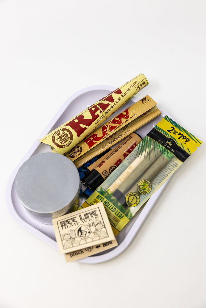 Dark Khaki Stoned Genie Rolling Tray Combo Set StonedGenie.com Accessories