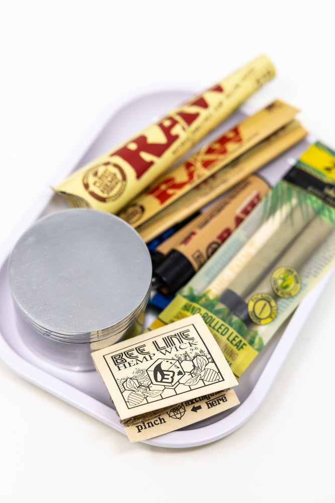 Gray Stoned Genie Rolling Tray Combo Set StonedGenie.com Accessories