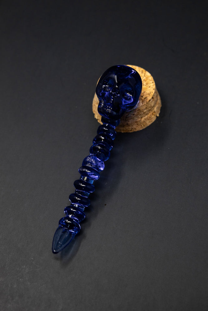 Dark Slate Gray Skull Head Dab Tool StonedGenie.com Accessories