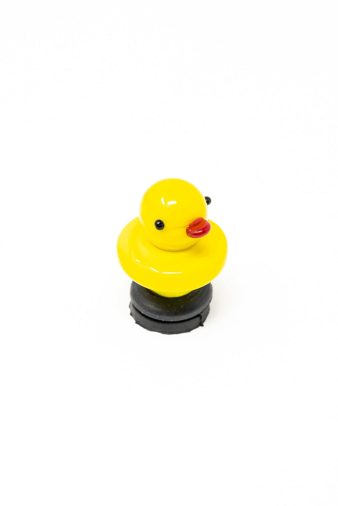 Gold Rubber Duck Glass Carb Cap StonedGenie.com Accessories