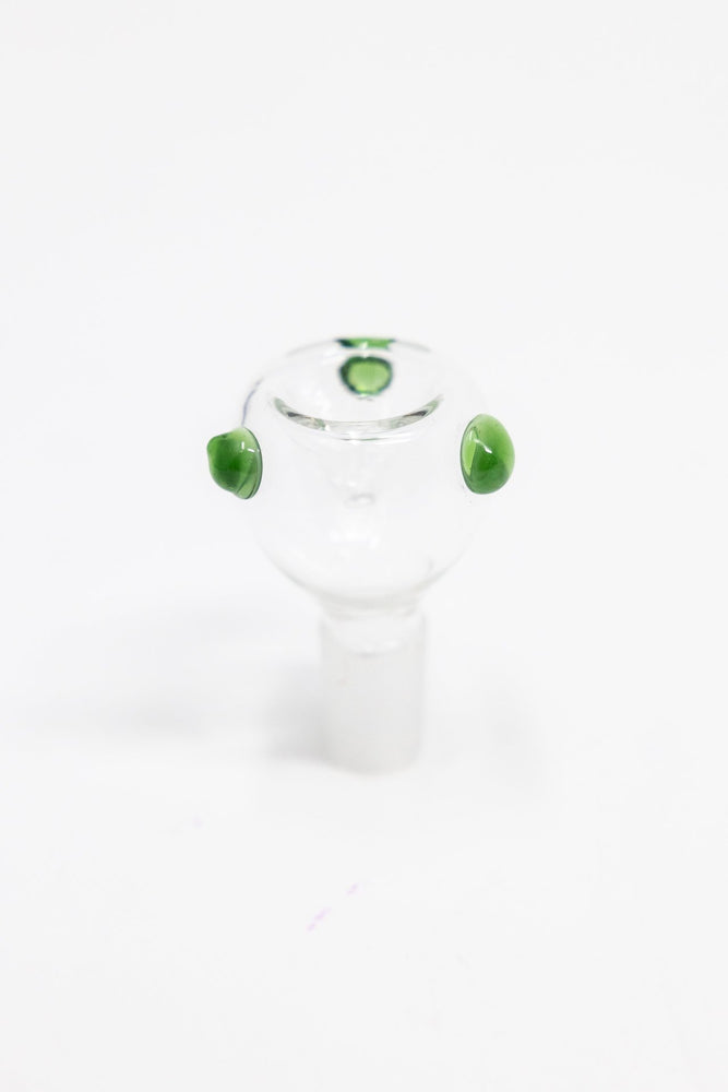 Beige 14mm Male Colored Dot Bowl Pc StonedGenie.com Accessories