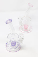 "White Smoke 6"" Flat Base Shower Bend Dab Rig StonedGenie.com Dab rig"