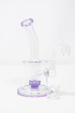 "6"" Flat Base Shower Bend Dab Rig"