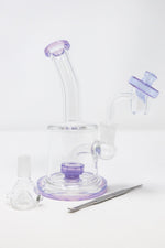 "6.5"" Stoned Genie Purple Flat Base Dab Rig Combo Set"