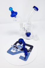 "6"" Stoned Genie Blue Dab Rig Combo Set"