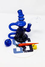 "Dark Slate Gray 6"" Stoned Genie Recycler Dab Rig Combo Set"