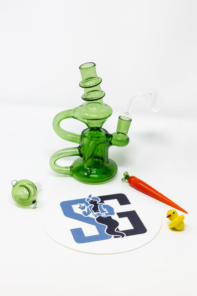 "6"" Stoned Genie Recycler Dab Rig Combo Set"