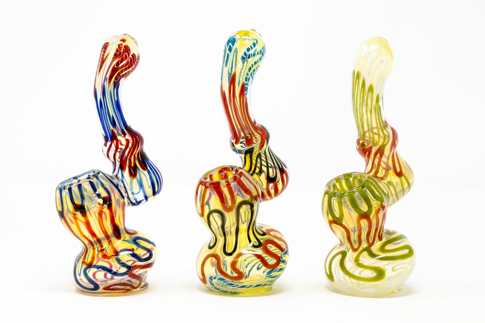 "Dark Khaki 6"" Premium Glass Fumed Swirl Bubbler w/ Carb Hole StonedGenie.com Bubblers"