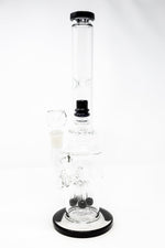 "White Smoke 16"" Thick Double Percolator Bong w/ Ice Catcher StonedGenie.com Bong"