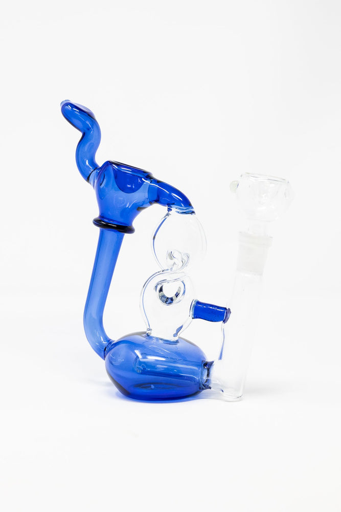 "7"" Twisted Glass Bubbler w/ Pull out Bowl"
