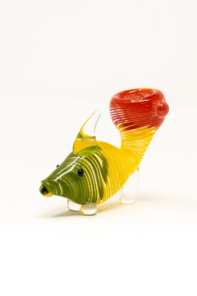 "3.5"" Rasta Fish Glass Pipe"