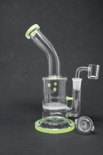 "7"" Green Honeycomb Shower Bend Dab Rig"