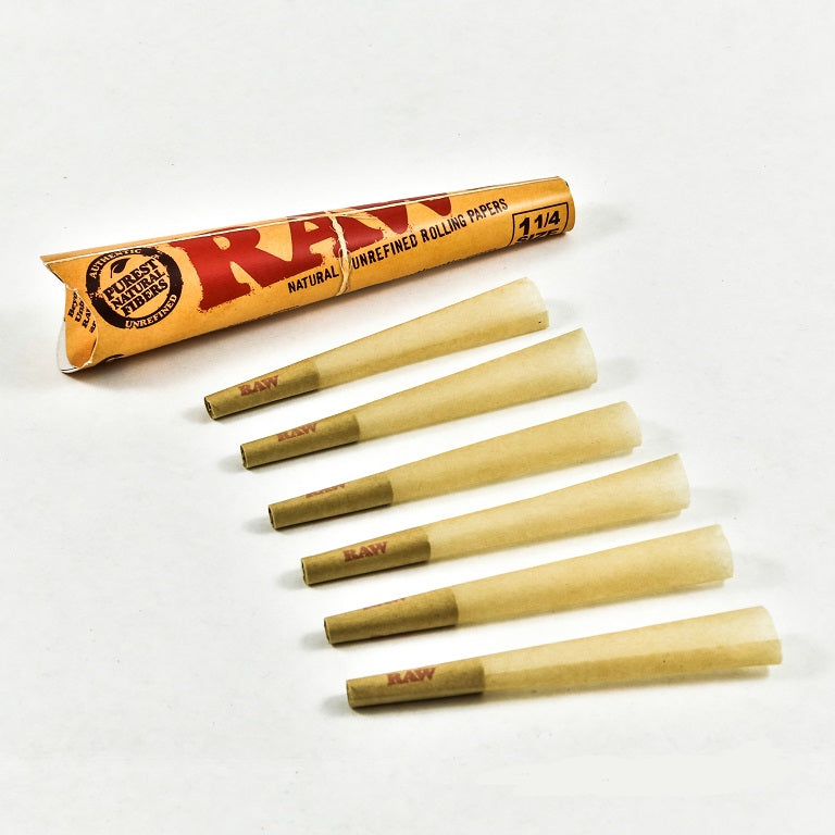 Tan Raw 6 pack Cones StonedGenie.com Accessories